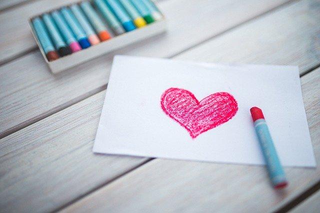 Sydänkortti piirretty